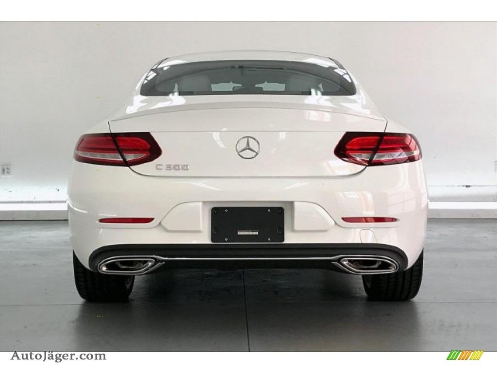 2020 C 300 Coupe - Polar White / Silk Beige/Black photo #3