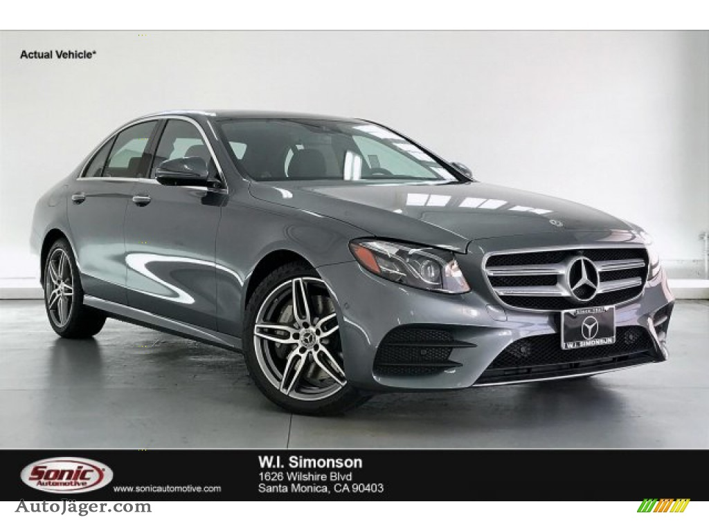 Selenite Grey Metallic / Black Mercedes-Benz E 450 4Matic Sedan
