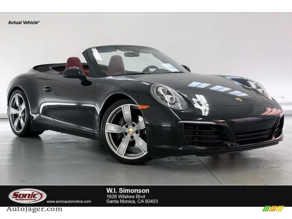 2019 911 Carrera Cabriolet - Black / Bordeaux Red photo #1