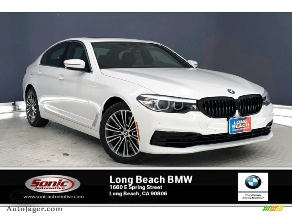2020 5 Series 540i Sedan - Alpine White / Black photo #1