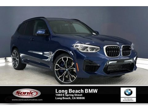Phytonic Blue Metallic 2020 BMW X3 M Competition