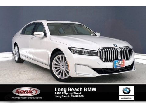 Mineral White Metallic 2020 BMW 7 Series 740i Sedan
