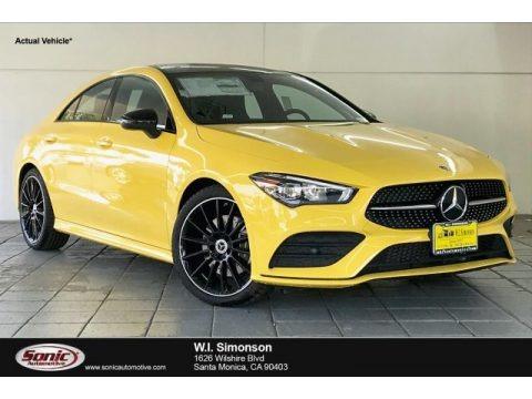 Sun Yellow 2020 Mercedes-Benz CLA 250 Coupe