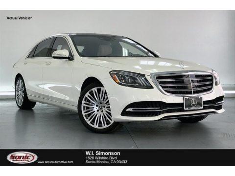 designo Diamond White Metallic 2020 Mercedes-Benz S 560 Sedan