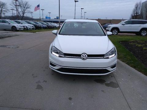 Pure White 2019 Volkswagen Golf S
