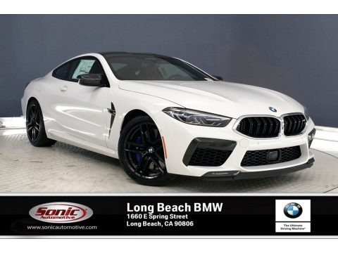 Alpine White 2020 BMW M8 Coupe