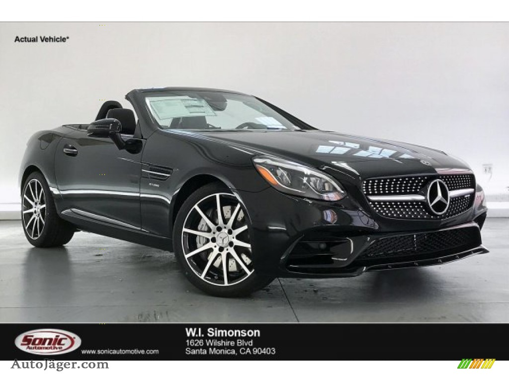 Black / Black Mercedes-Benz SLC 43 AMG Roadster