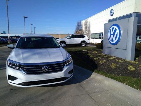 Pure White 2020 Volkswagen Passat S