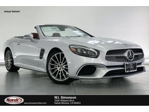 Iridium Silver Metallic 2020 Mercedes-Benz SL 450 Roadster