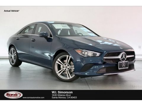 Denim Blue Metallic 2020 Mercedes-Benz CLA 250 Coupe