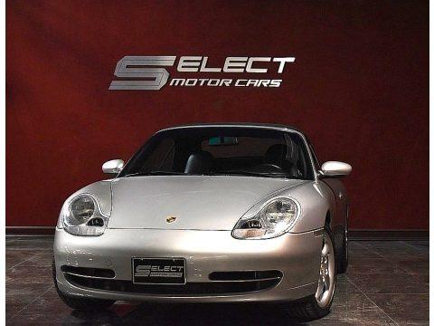 Polar Silver Metallic 2000 Porsche 911 Carrera 4 Cabriolet