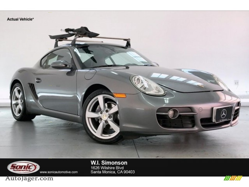 2008 Cayman  - Meteor Grey Metallic / Black photo #1