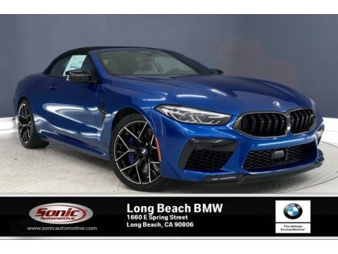 Sonic Speed Blue 2020 BMW M8 Convertible