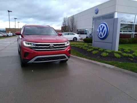 Aurora Red Chroma Metallic 2020 Volkswagen Atlas Cross Sport SE Technology 4Motion