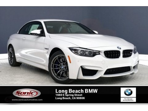 Alpine White 2020 BMW M4 Convertible