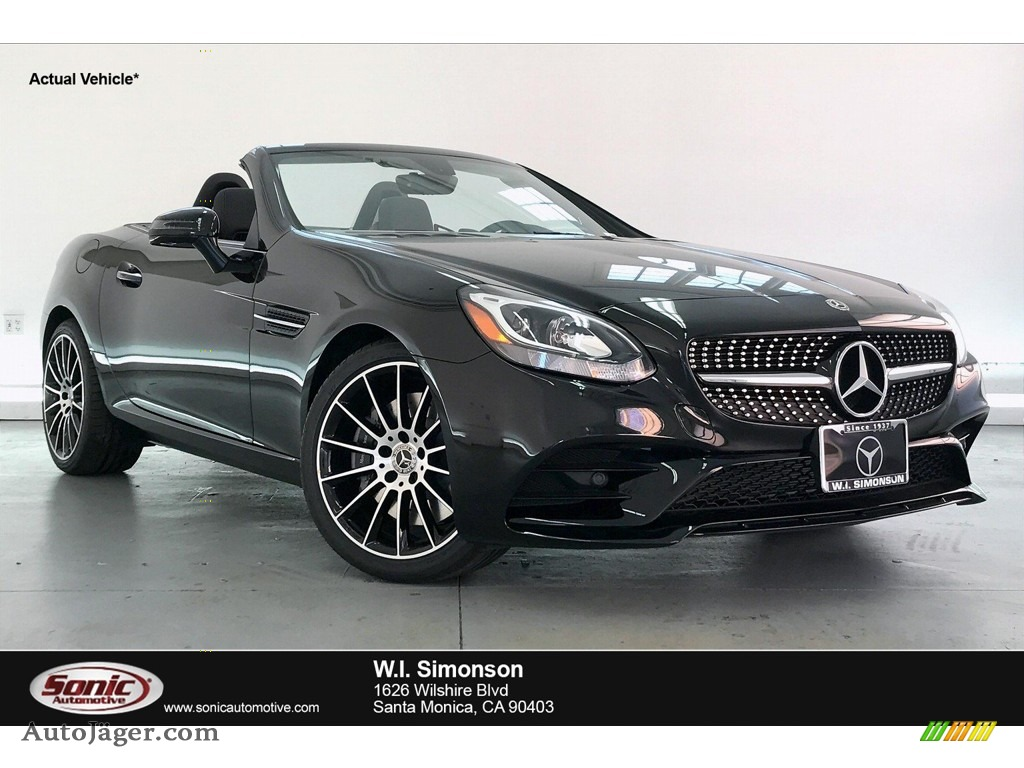 Obsidian Black Metallic / Bengal Red/Black Mercedes-Benz SLC 300 Roadster