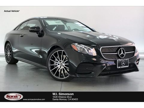 Black 2020 Mercedes-Benz E 450 Coupe