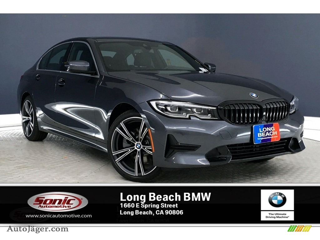 Mineral Grey Metallic / Black BMW 3 Series 330i Sedan