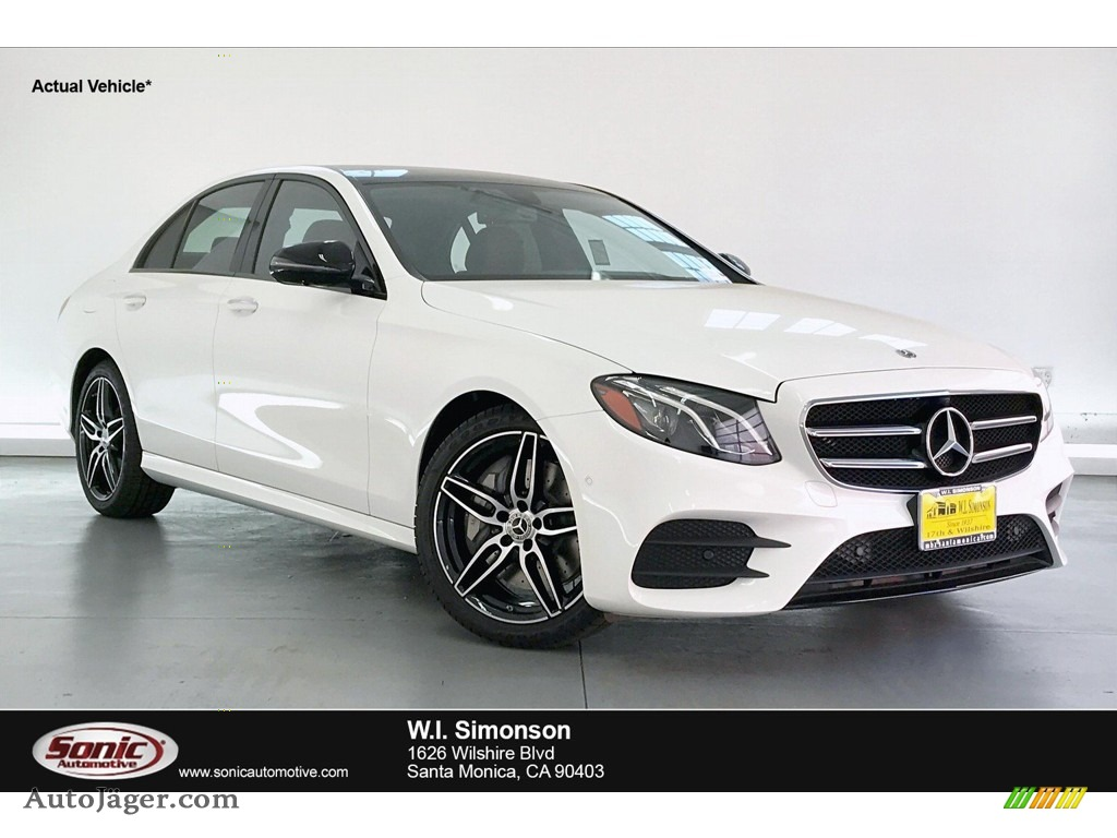 2020 E 350 Sedan - Polar White / Nut Brown/Black photo #1