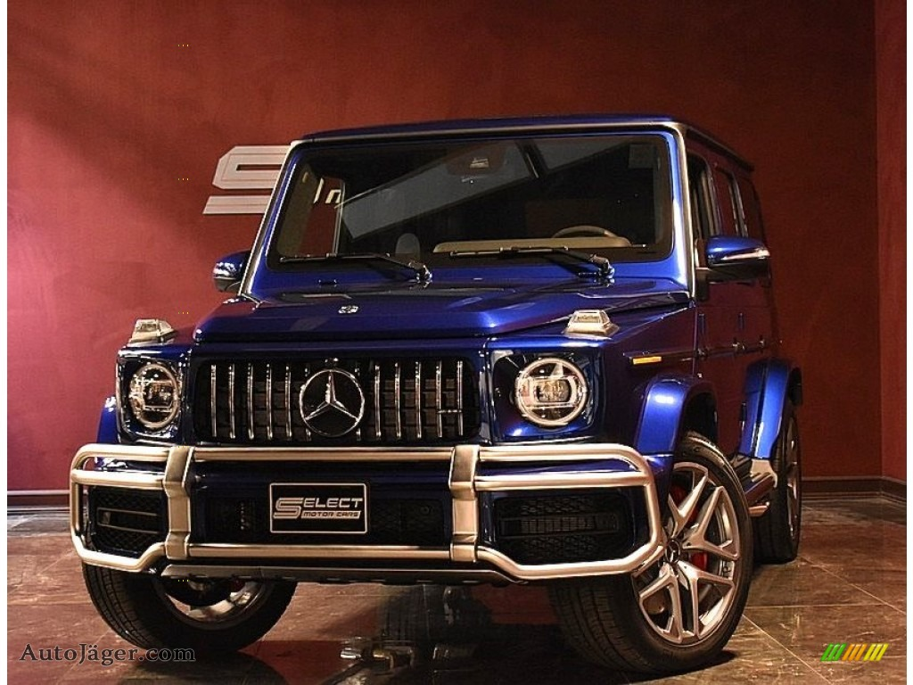 Brilliant Blue Metallic / Black Mercedes-Benz G 63 AMG