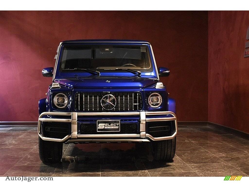 2020 G 63 AMG - Brilliant Blue Metallic / Black photo #2
