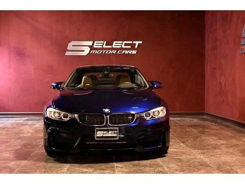 Tanzanite Blue Metallic 2017 BMW M4 Convertible
