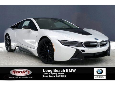 Crystal White Pearl Metallic 2020 BMW i8 Coupe