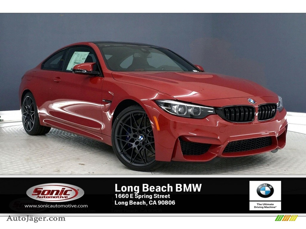 2020 M4 Coupe - Imola Red / Black/Red photo #1