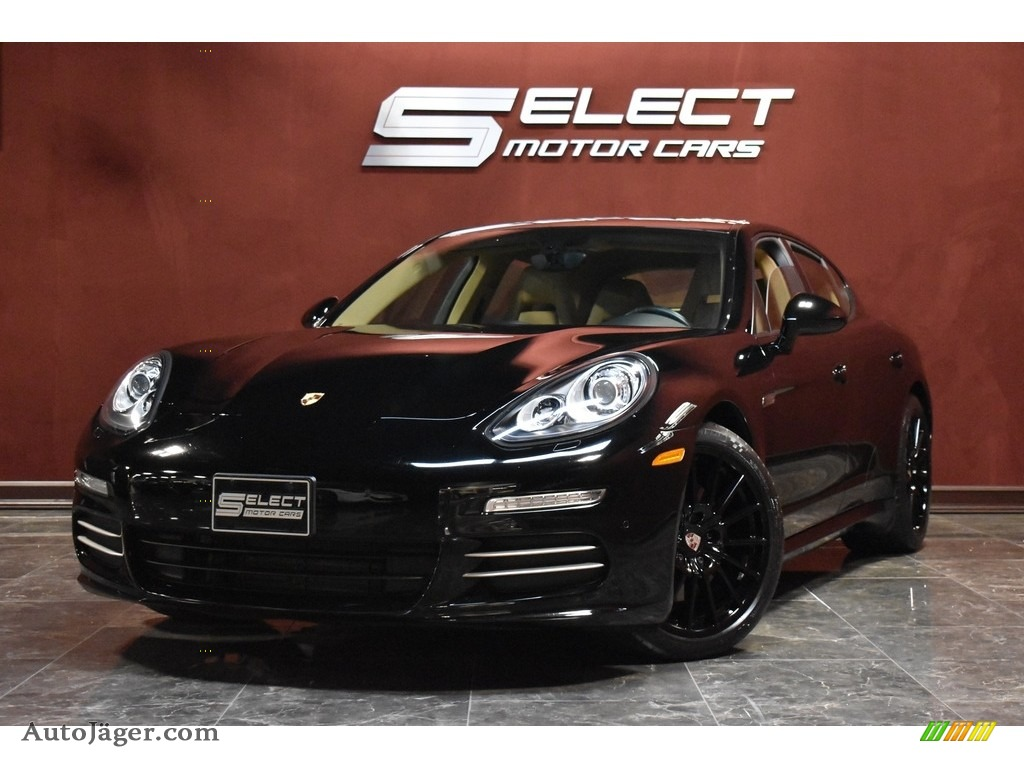 2015 Panamera 4 - Black / Luxor Beige photo #1