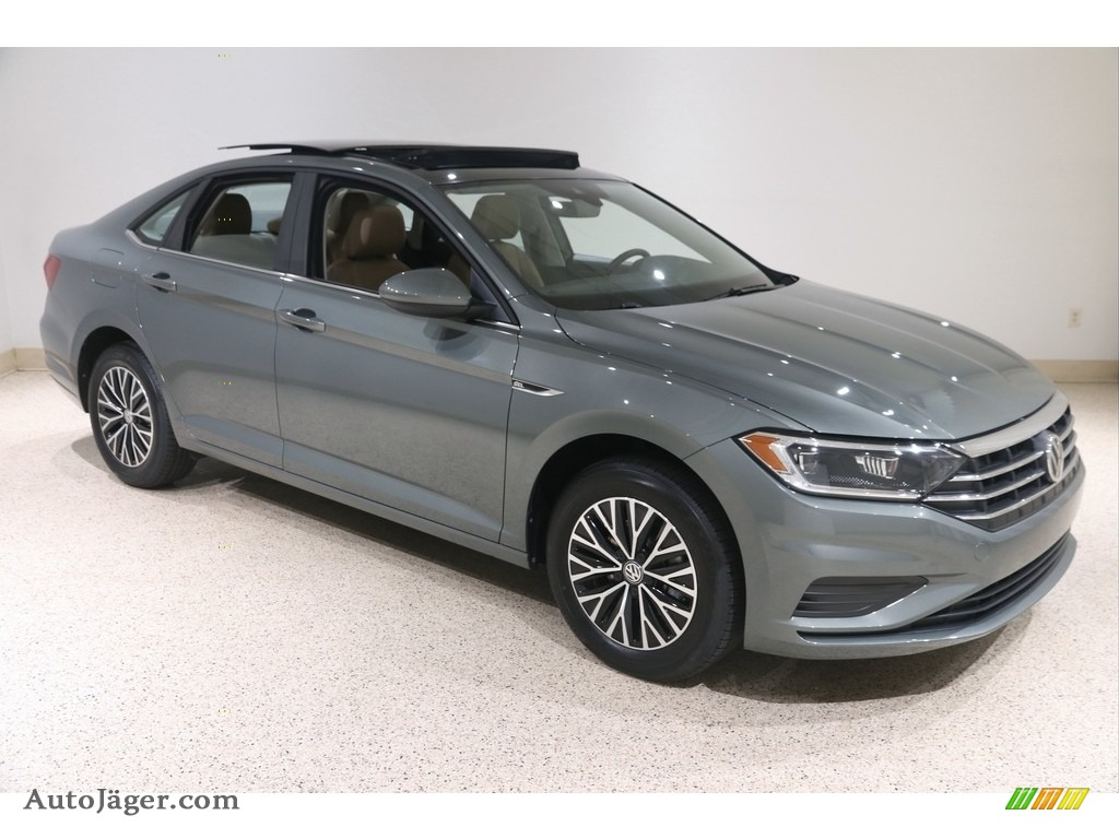 2019 Jetta SEL - Sage Green Metallic / Dark Beige photo #1