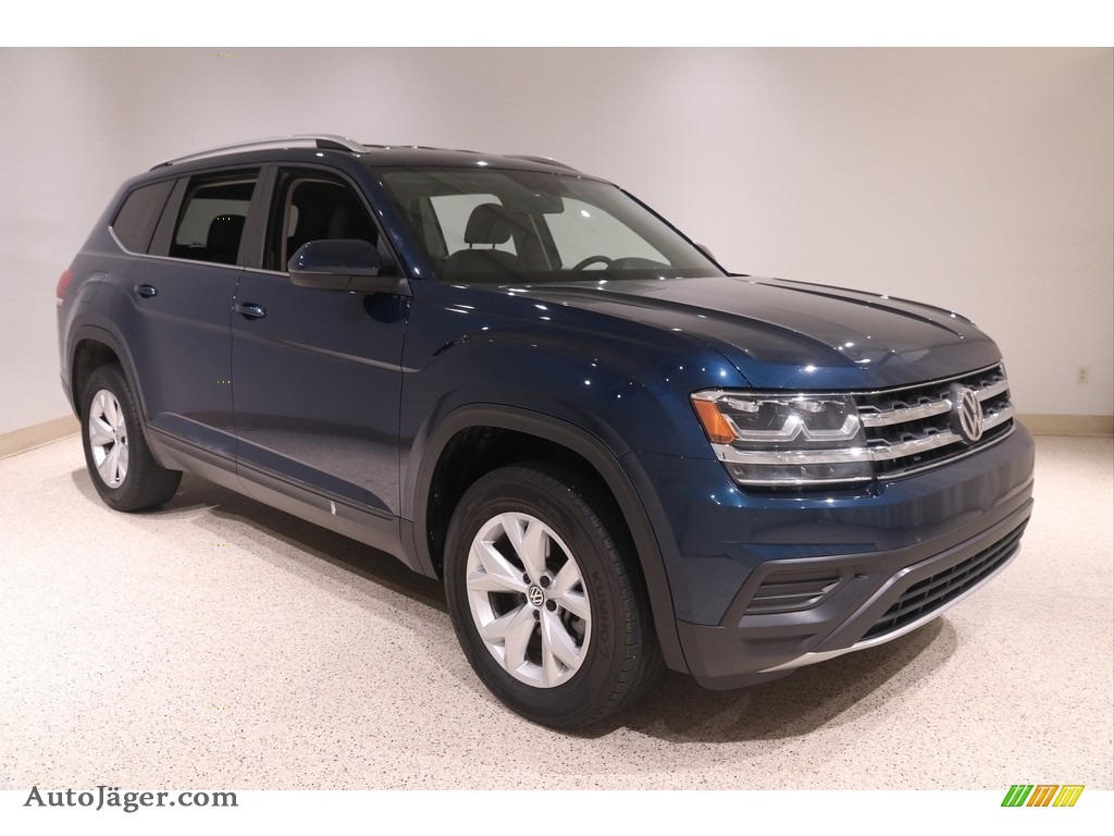 2019 Atlas S 4Motion - Tourmaline Blue Metallic / Titan Black photo #1