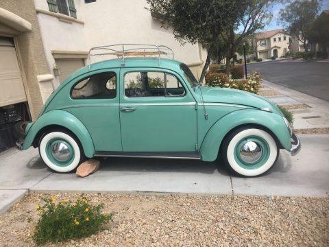 Teal 1963 Volkswagen Beetle Coupe
