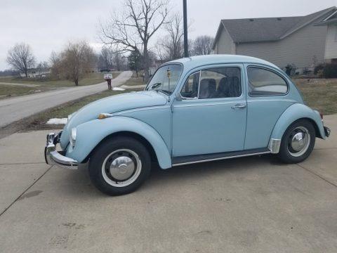 Baby Blue 1968 Volkswagen Beetle Coupe