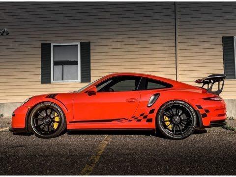 Lava Orange 2016 Porsche 911 GT3 RS