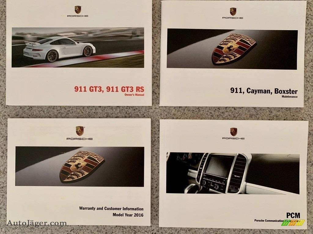 2016 911 GT3 RS - Lava Orange / Black/Lava Orange photo #20