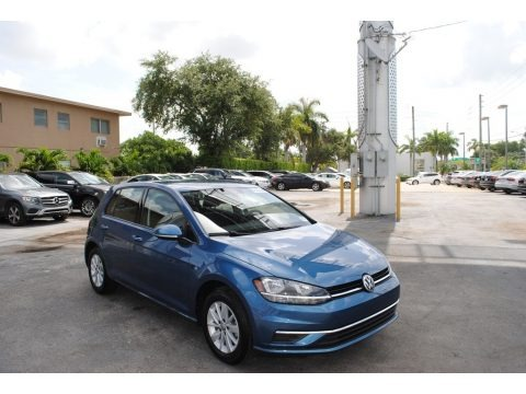 Silk Blue Metallic 2019 Volkswagen Golf S