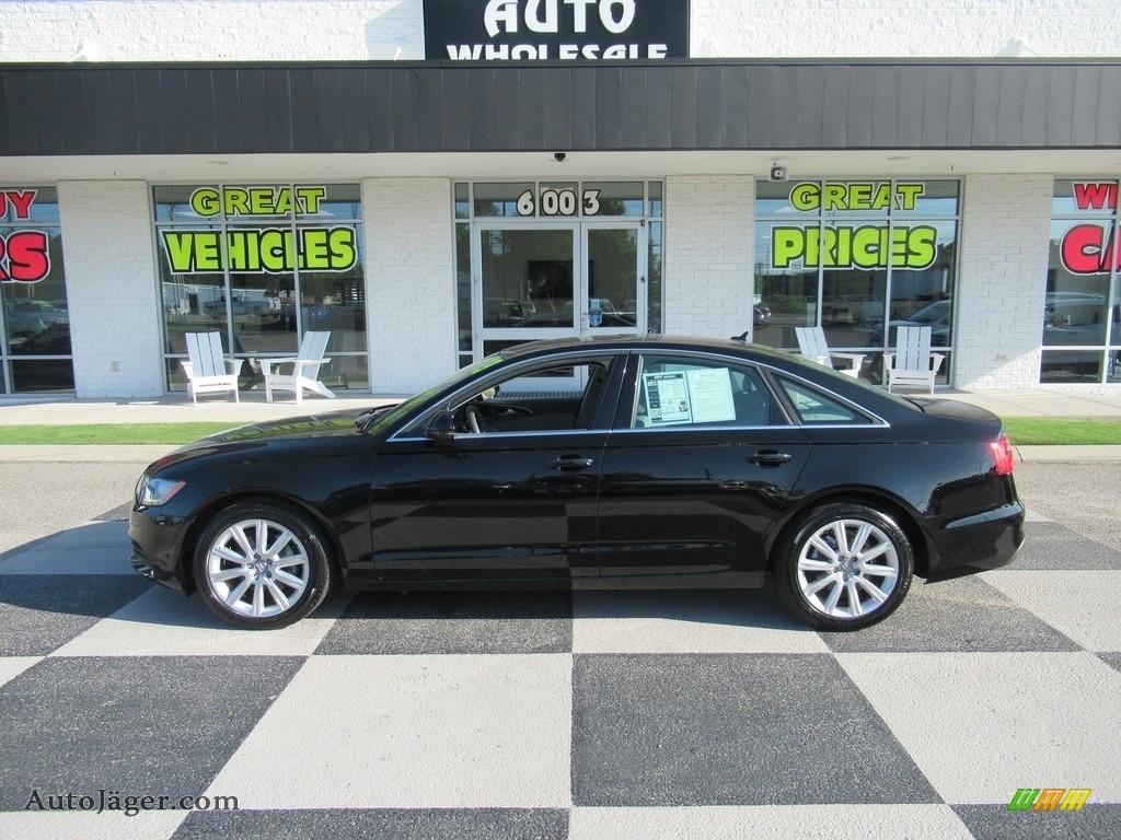 2013 A6 2.0T Sedan - Brilliant Black / Titanium Gray photo #1