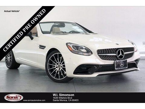 designo Diamond White Metallic 2020 Mercedes-Benz SLC 300 Roadster