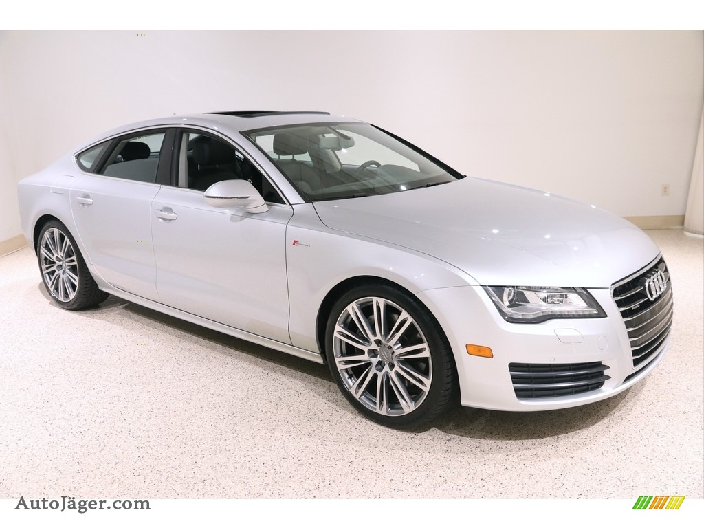 2012 A7 3.0T quattro Premium Plus - Ice Silver Metallic / Black photo #1