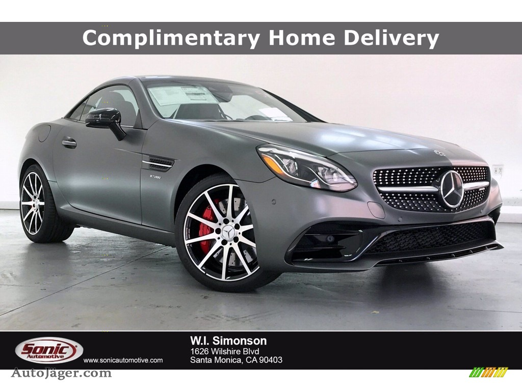 2020 SLC 43 AMG Roadster - designo Shadow Gray Magno (Matte) / Black photo #1