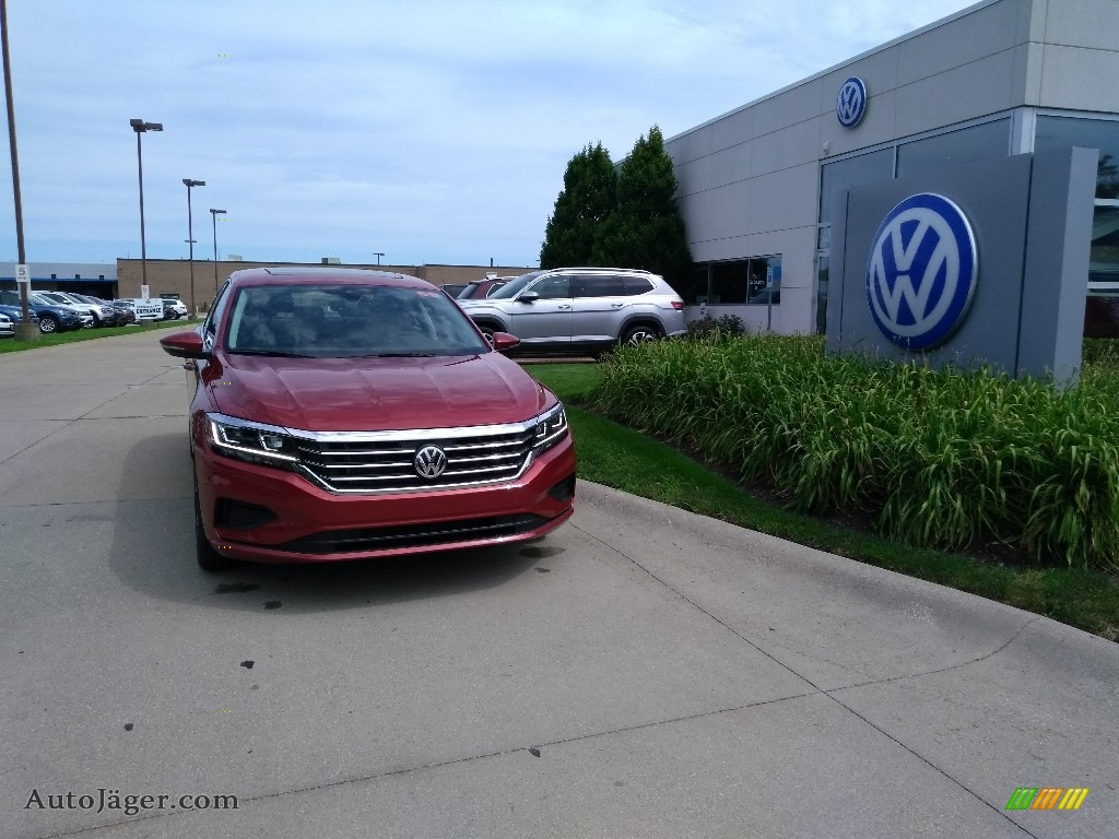 Aurora Red Metallic / Titan Black Volkswagen Passat SEL
