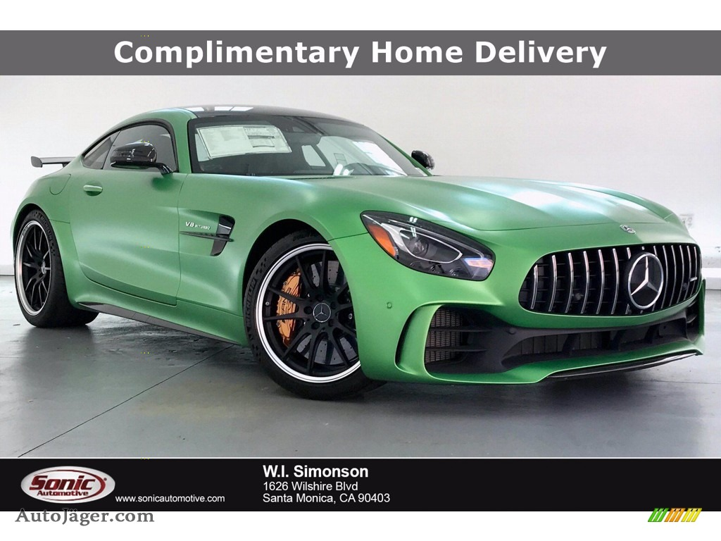 2019 AMG GT R Coupe - AMG Green Hell Magno (Matte) / Black w/Dinamica photo #1