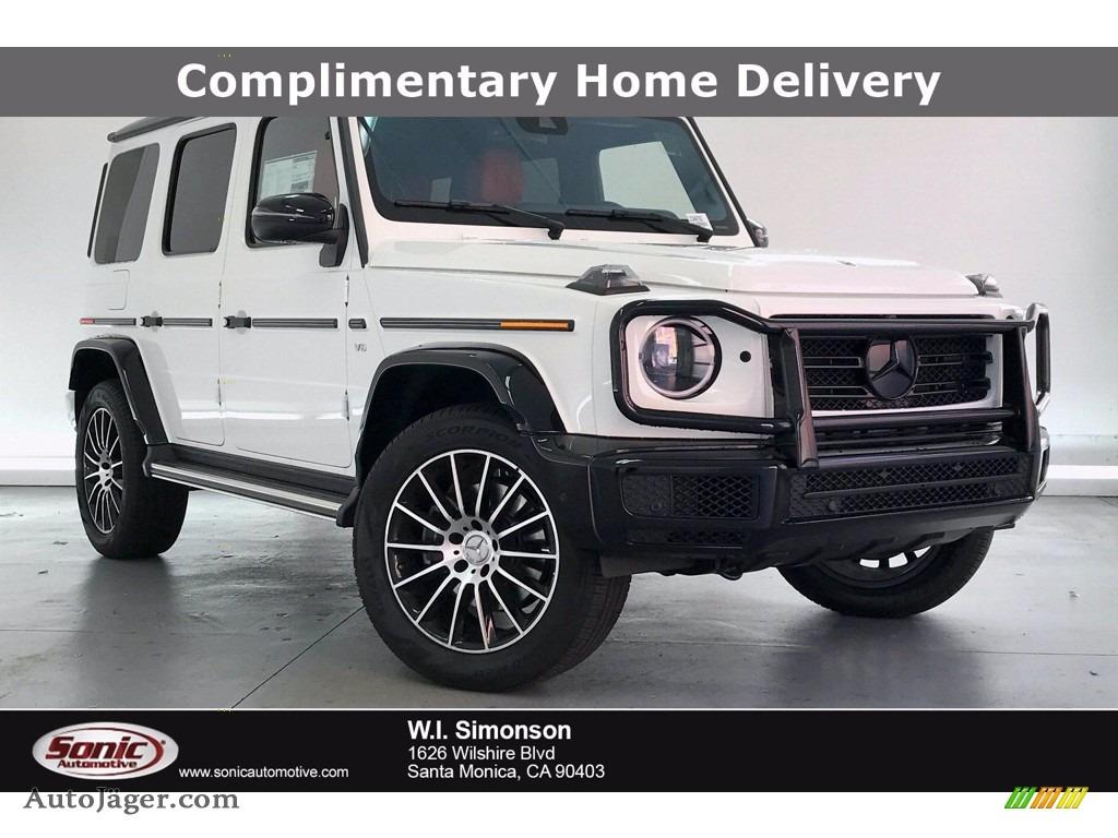2020 G 550 - Polar White / designo Classic Red/Black photo #1