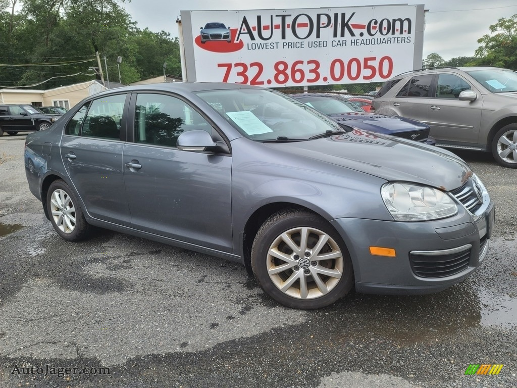2010 Jetta SE Sedan - Platinum Grey Metallic / Titan Black photo #1