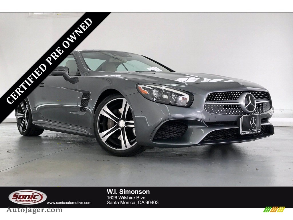 2017 SL 450 Roadster - Selenite Grey Metallic / Ginger Beige/Espresso Brown photo #1