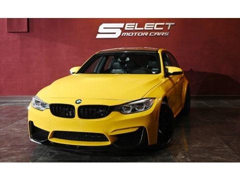 Speed Yellow 2017 BMW M3 Sedan