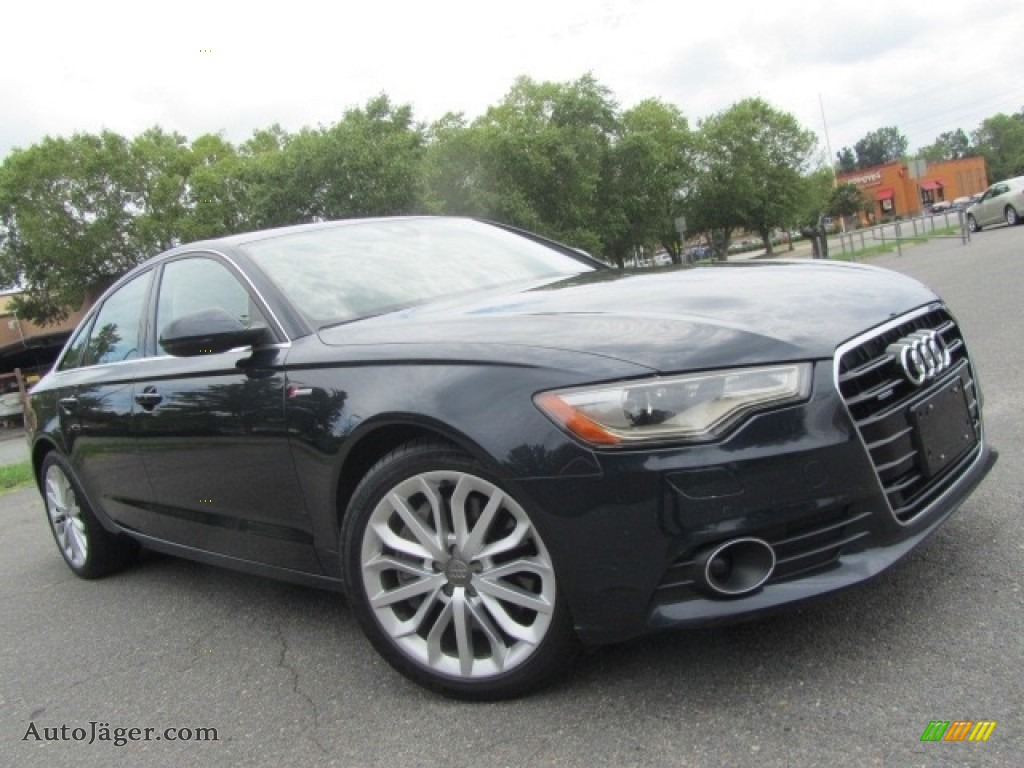 2014 A6 3.0T quattro Sedan - Moonlight Blue Metallic / Nougat Brown photo #1