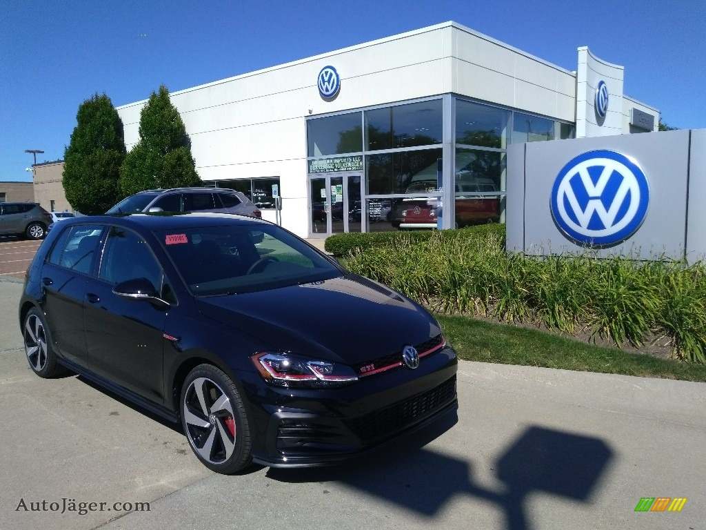2020 Golf GTI SE - Deep Black Pearl / Titan Black photo #1