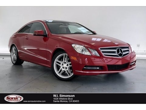 Mars Red 2013 Mercedes-Benz E 350 Coupe
