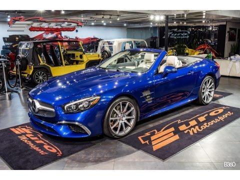 Brilliant Blue Metallic 2017 Mercedes-Benz SL 450 Roadster